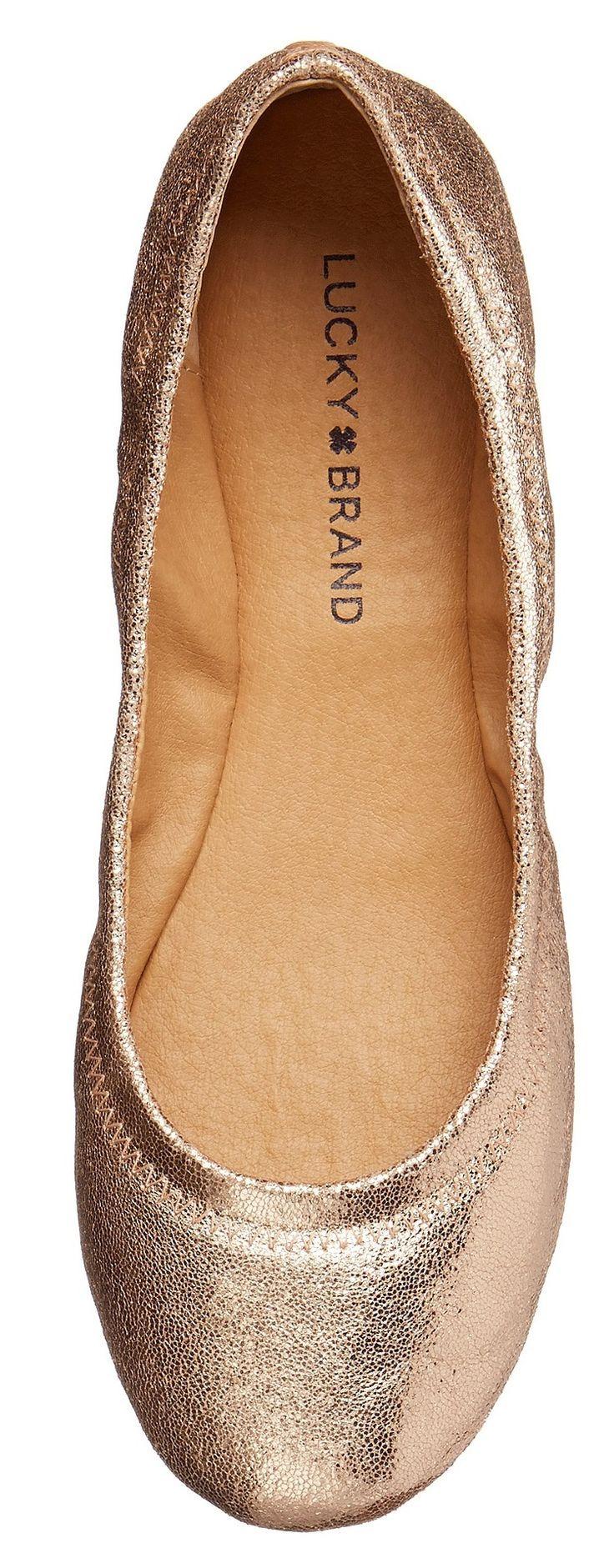 Gold wedding shoes flats