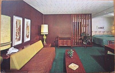 1970 Motel Interior Chrome Ad Postcard Telephone State College