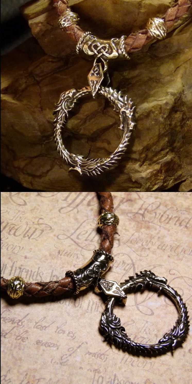 Skyrim pendant for necklaces by ArtbronzeShop / Handmade viking