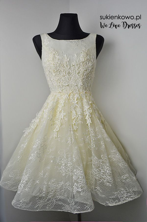Gipurowa Gorsetowa Sukienka Ecru Pansy Lace Dress Dresses Formal Dresses