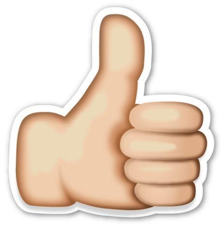 Thumb Up Like Emoji Thumbs Up Sign Emoji
