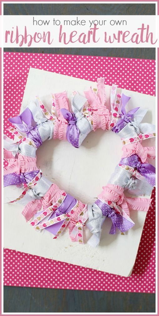 Ribbon Heart Wreath | Bee crafts, Heart wreath and Wreaths