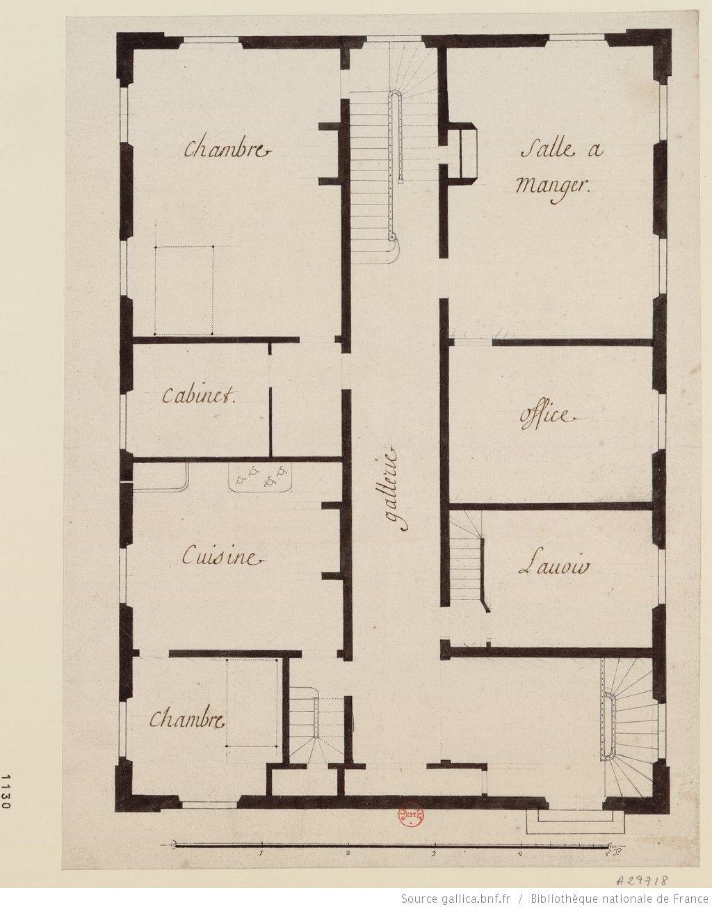 Plan d 39 un tage de la samaritaine avec chambre et salle for Salle a manger dessin anime