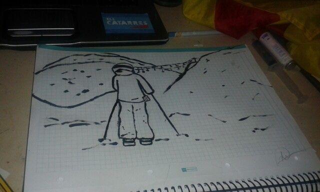 Esquiador mirando al infinito
