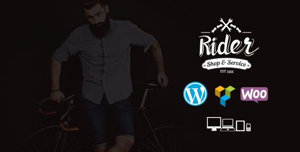 Rider - Bike Shop & Service WordPress Theme (WooCommerce) - http://wpskull.com/rider-bike-shop-service-wordpress-theme-woocommerce/wordpress-offers