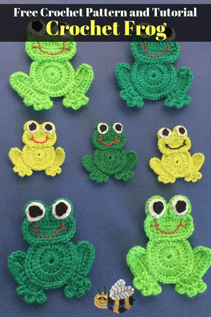 Get this free crochet pattern of this crochet frog at Kerris Crochet.