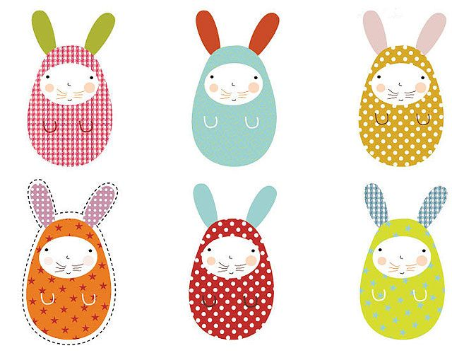Conejos de pascua de papel para hacer con ni os - Manualidades para ninos con papel ...