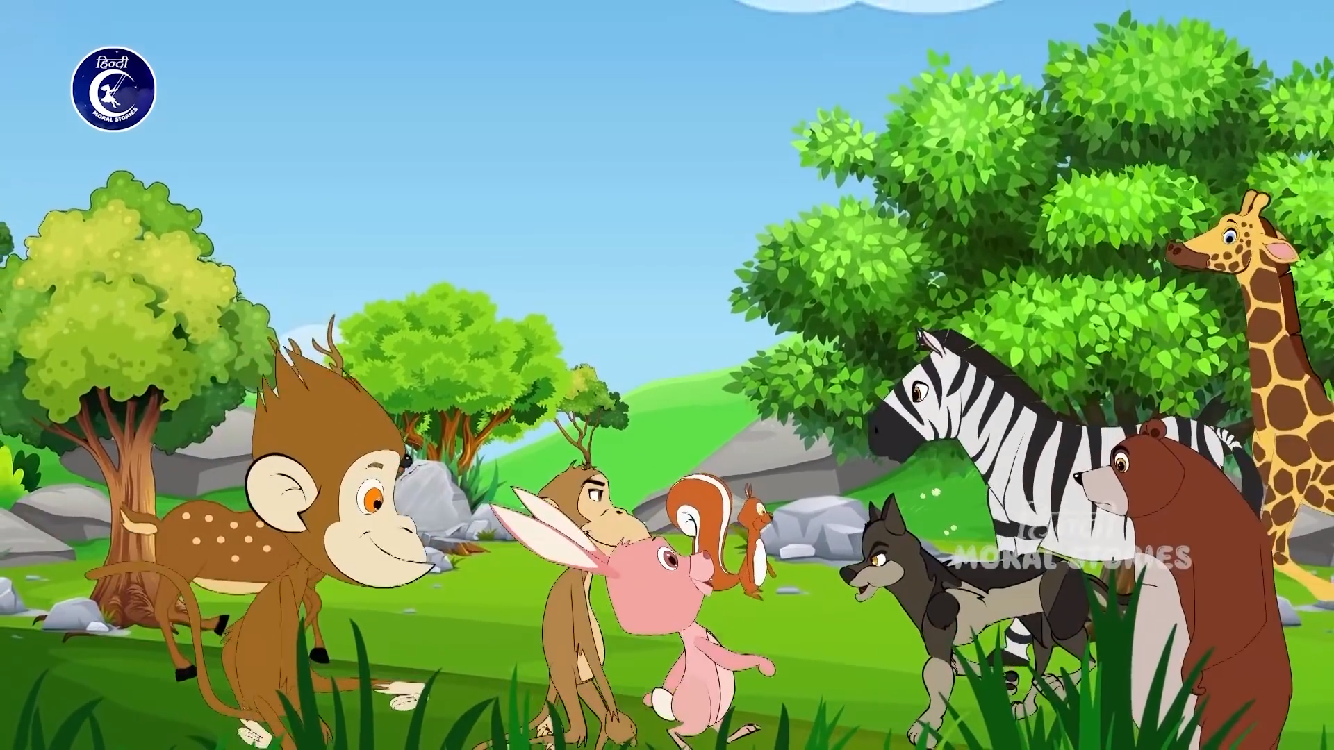 Lion and Rabbit Animated Hindi Moral Stories fo…   Lion and Rabbit