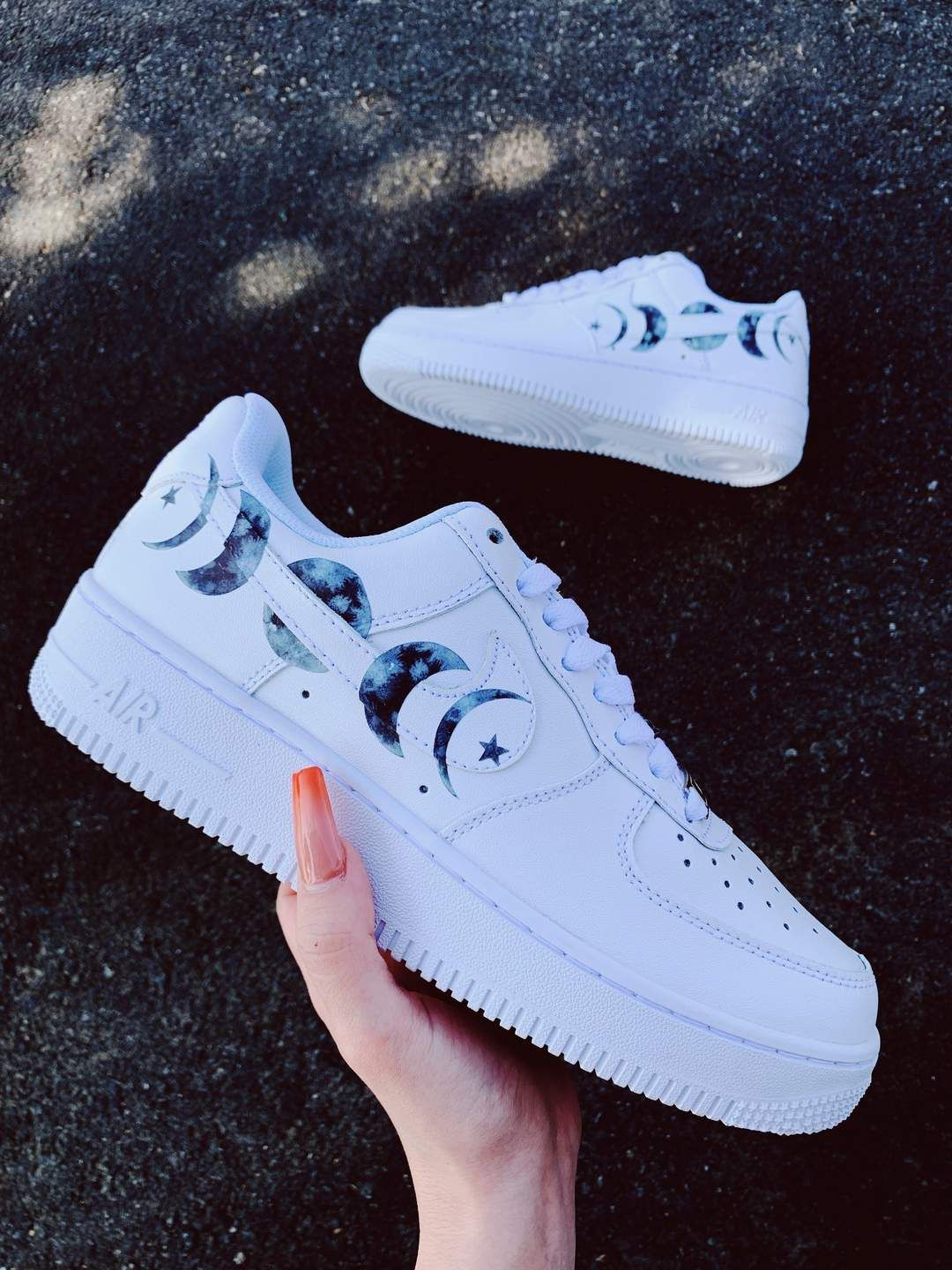 To The Moon Af1 White Nike Shoes Nike Air Shoes Sneakers Fashion