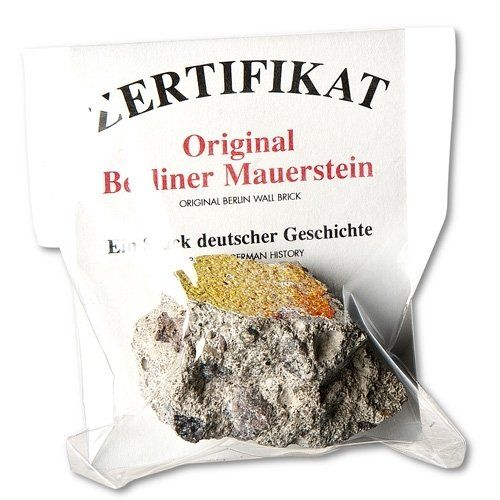 Deutschland Souvenirs Berliner Mauerstein mit Zertifikat, groß: Amazon.de: Küche & Haushalt