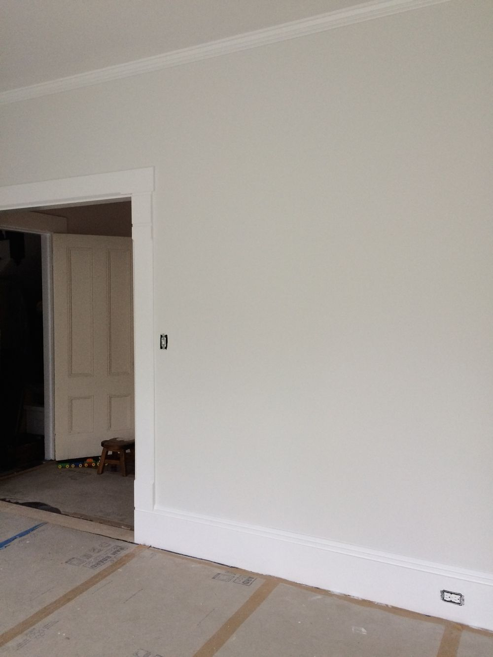 So After The Samples Were Up Winner Was Benjamin Moore Winter White It