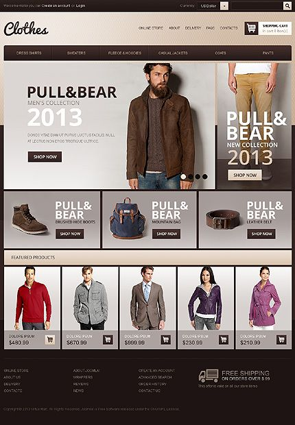 b4b7b353ad9 Joomla Online  Clothes Store.  140