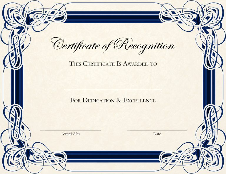 Certificate Template Designs Recognition Docs Certificates