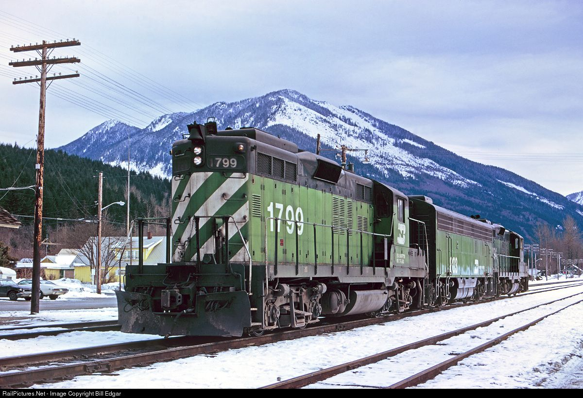 Bn 1799 Burlington Northern Railroad Emd Gp9 At Skykomish