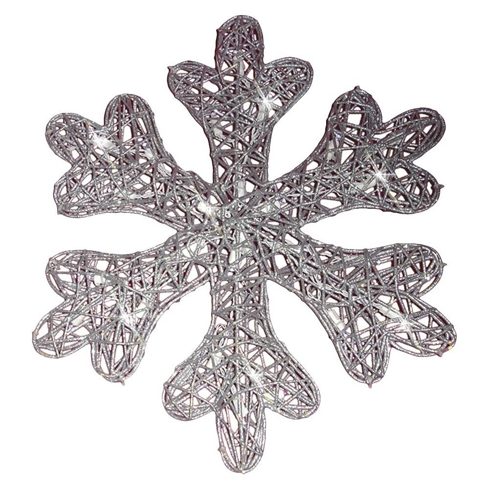 Battery Operated 25lt Led Glitter Snowflake Battery