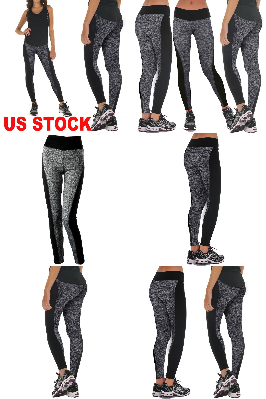 Women Yoga Pants Workout Leggings Fitness Pants High Waist Running Gym Trousers Pants