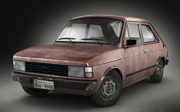Fiat 147 Modeling Texture And Render On Behance With Images