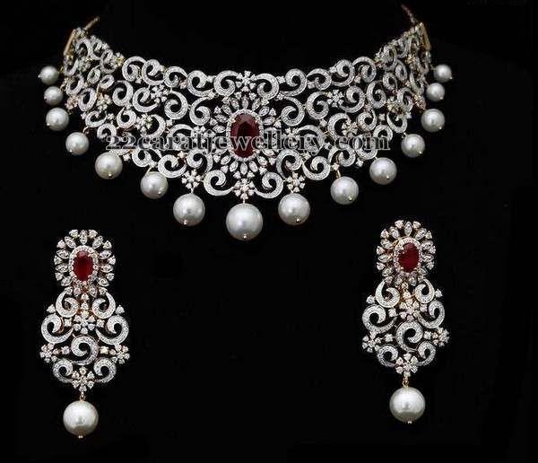 Diamond Set by Charu Jewels - Jewellery Designs
