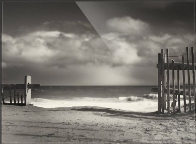 Beach fence wellfleet cape cod by dapixara art black white