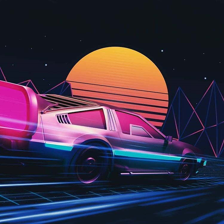 Vapor Race Synthartcollection Synthwave Retro Waves Vaporwave