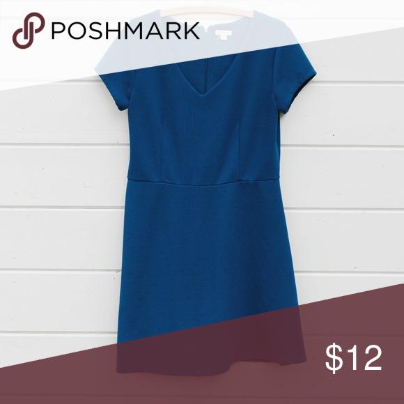 "Simple Blue Dress Length 34"" Bust 18"" Waist 16"" Merona Dresses Midi"