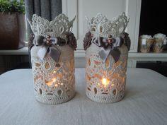 Candele Bagno ~ Graziosi e suggestivi porta candele all uncinetto con pizzi e