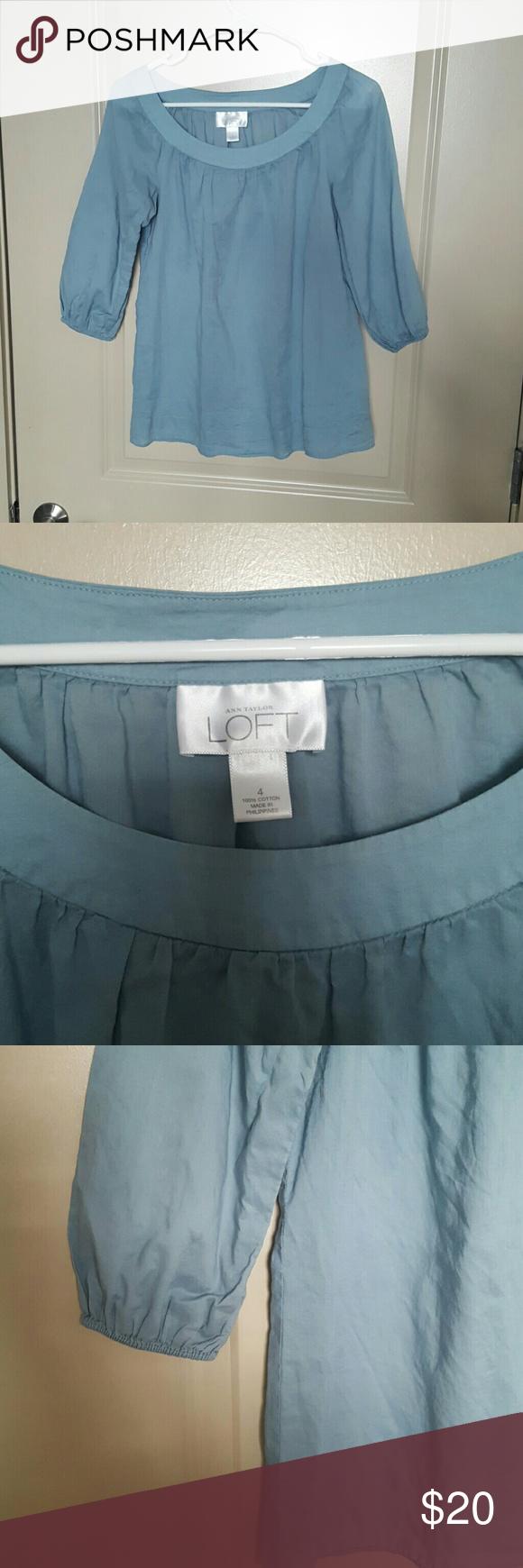 Selling this LOFT cotton blouse on Poshmark! My username is: buckleboots. #shopmycloset #poshmark #fashion #shopping #style #forsale #LOFT #Tops