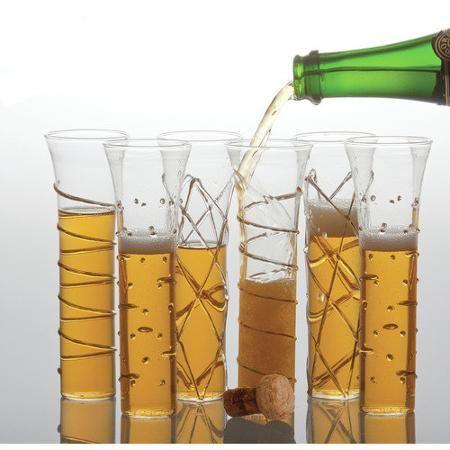 Abigails Champagne Flutes Glass (Set of 6)