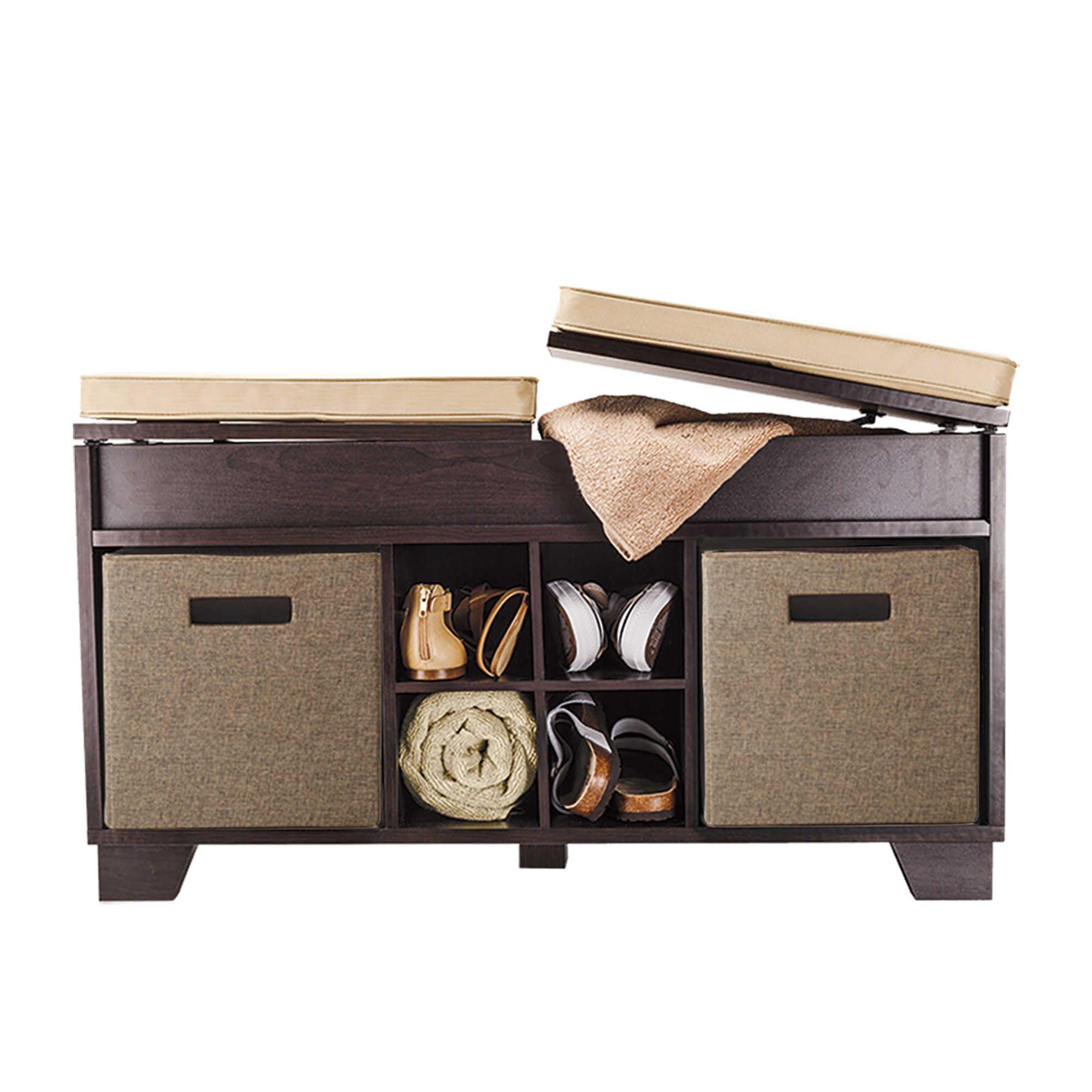 Real Simple® 3 Cube Split Top Bench Storage Unit In Espresso