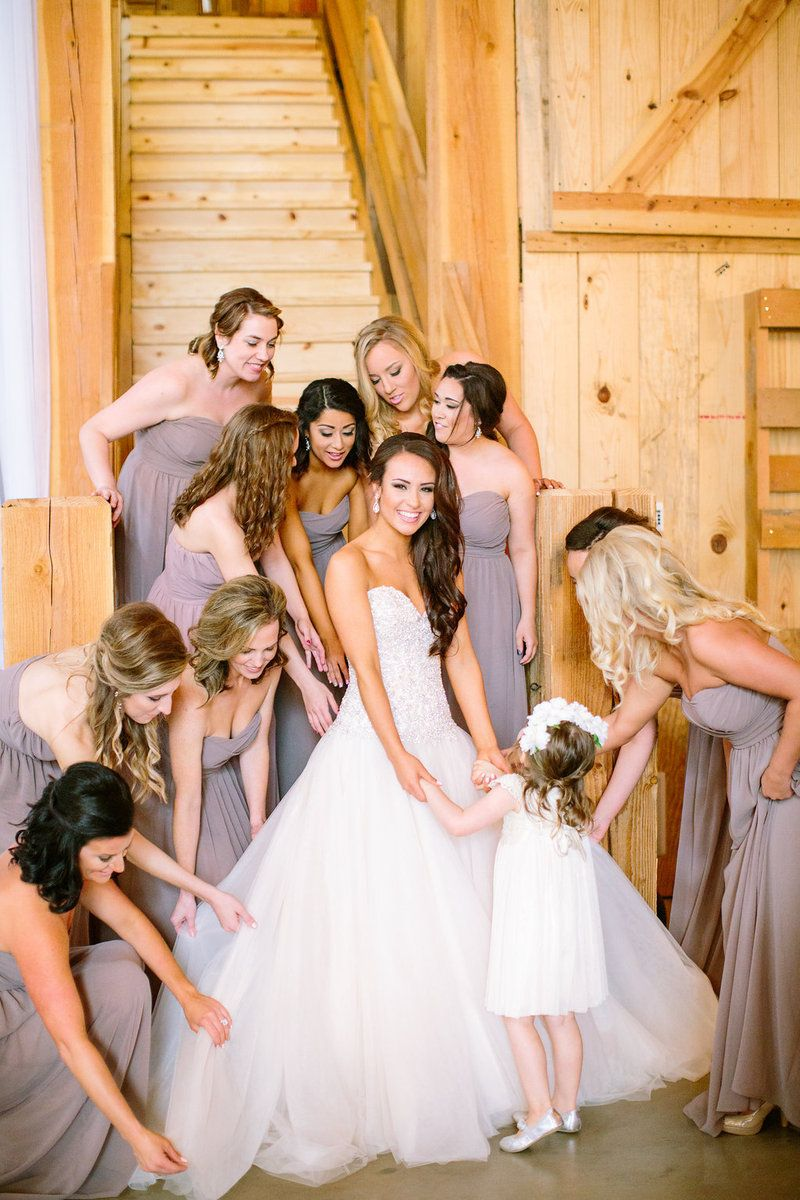 Silver Lace Vintage Barn Wedding Invitations Photo By The Tarnos Mocha Bridesmaid Dresses