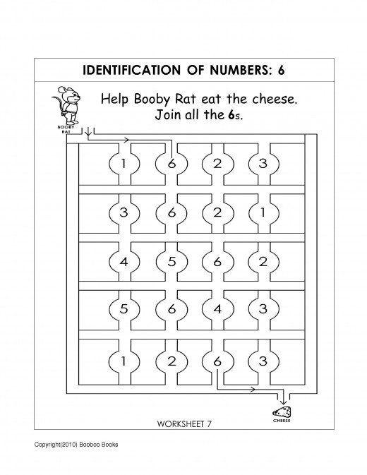 Number Recognition Worksheets Activities занятия с