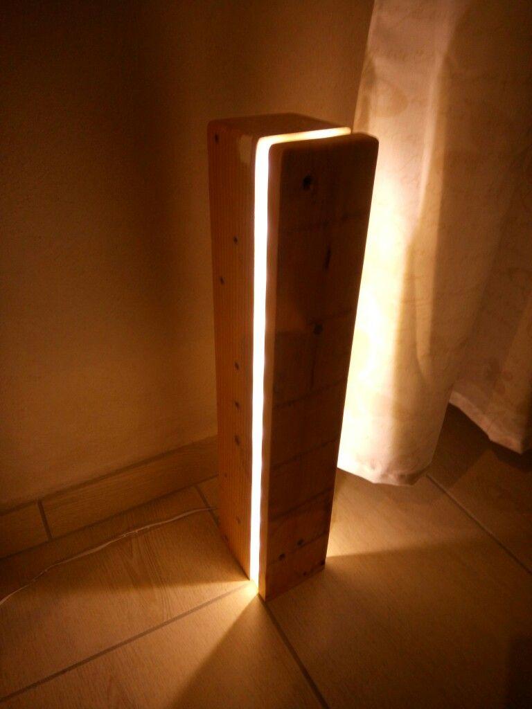 Floorlamp Diy Led Lampada Pallet Wood Gooseneck