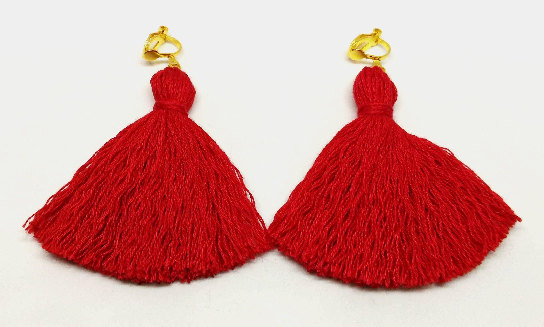 Red Tel Earrings