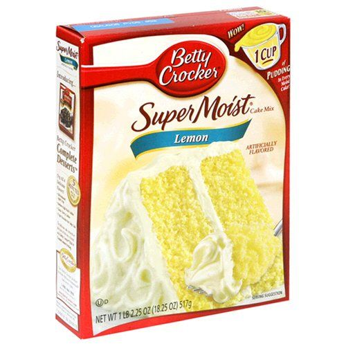 This recipe is 3 ingredients and 1.5 weight watchers points a piece! 1 box lemon cake mix-mix with one 20 oz bottle of diet 7-up Bake at 350 for 30 min in 9x13 pan Cool and top with one tub of light cool whip The entire cake is 19 weight watcher points and it is divine!