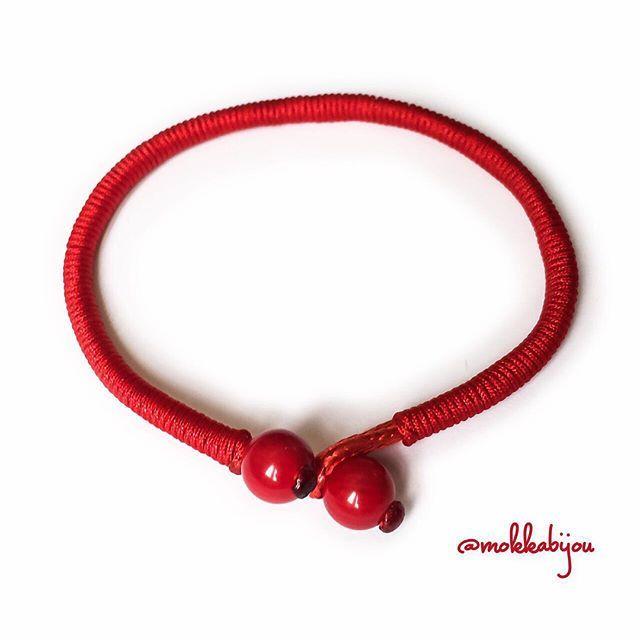 último mejor descuento más bajo Pulseras estilo tibetano. Roja con coral o negra con perlas ...