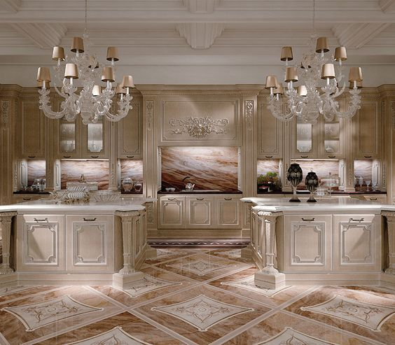 Interior Design For Kitchen Tiles: Italian Marble Inlay