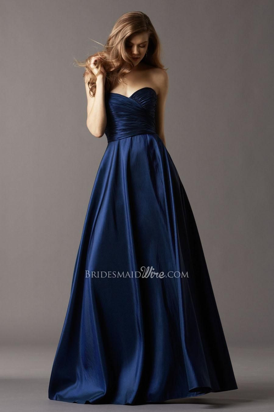 navy blue taffeta ball gown sweetheart strapless floor length ...