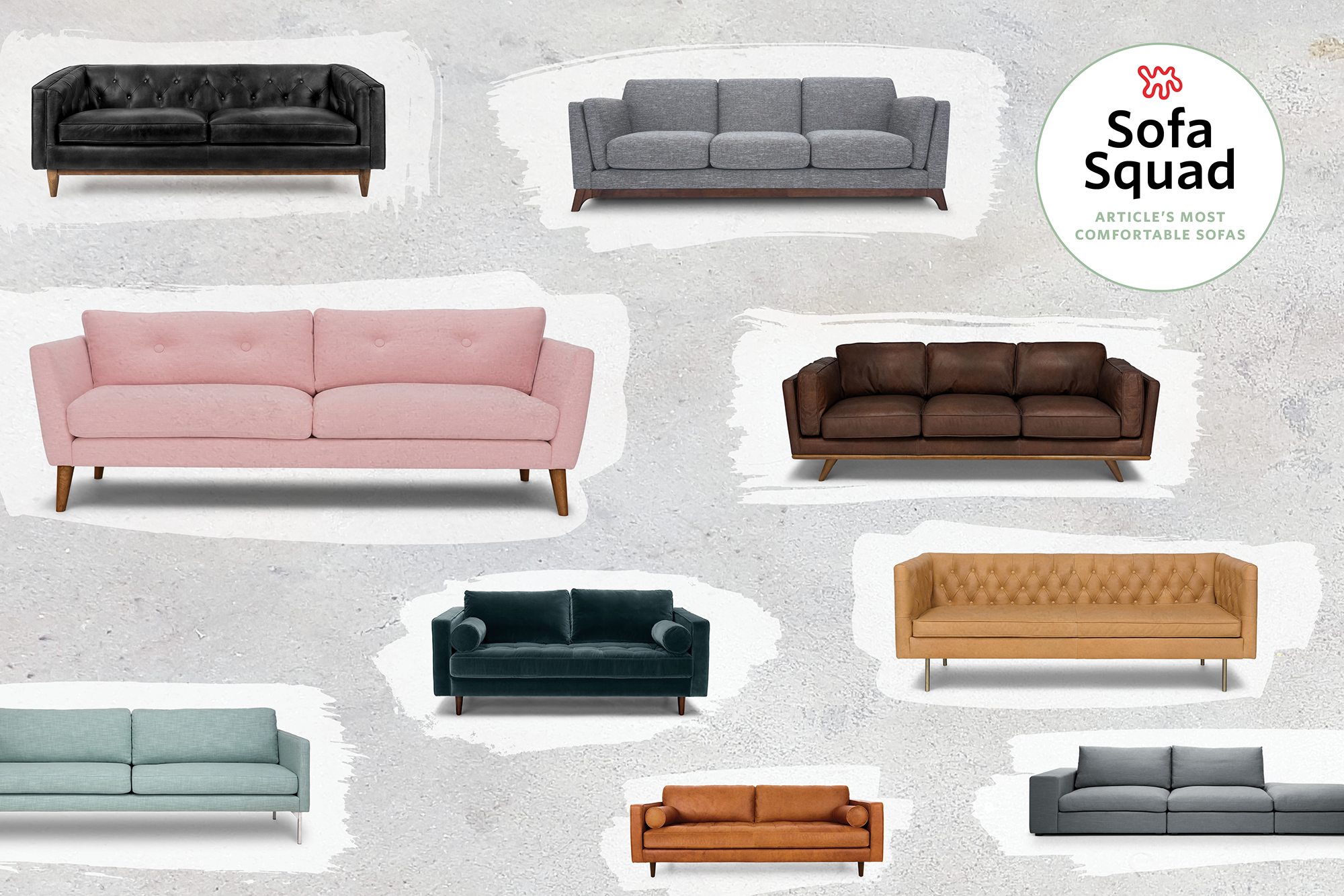 Awesome We Saw We Sat We Reviewed The Most Comfortable Sofas At Bralicious Painted Fabric Chair Ideas Braliciousco