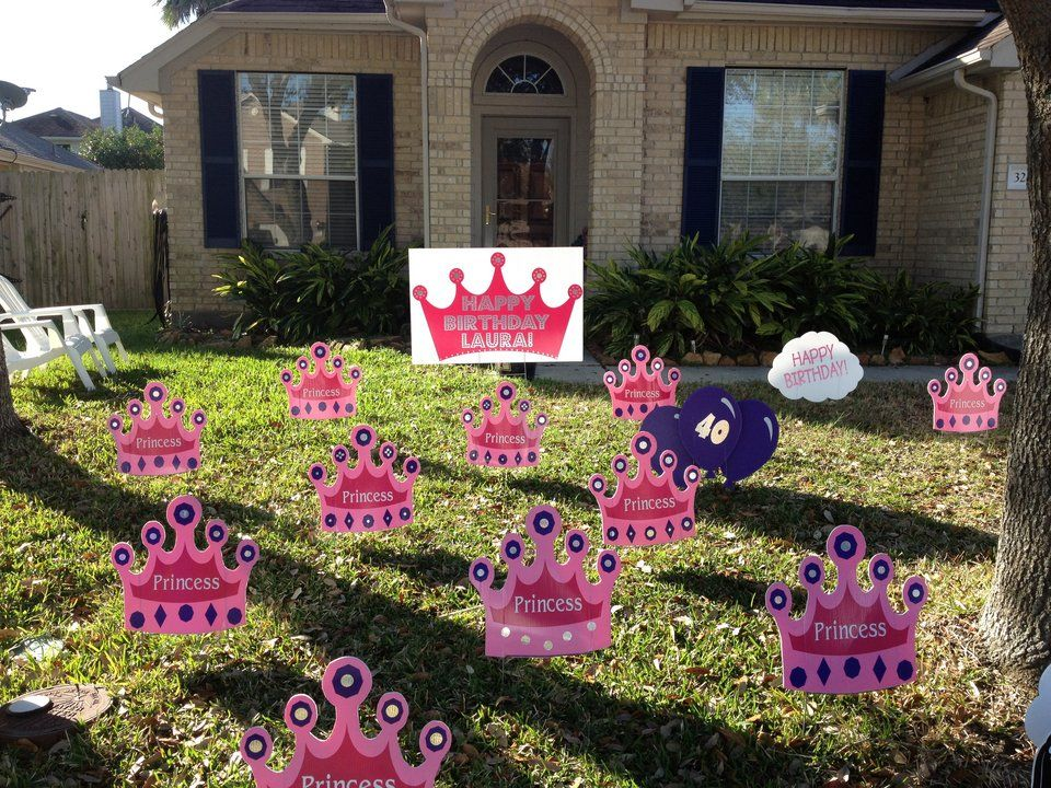Outdoor Princess Party Yard Decorations