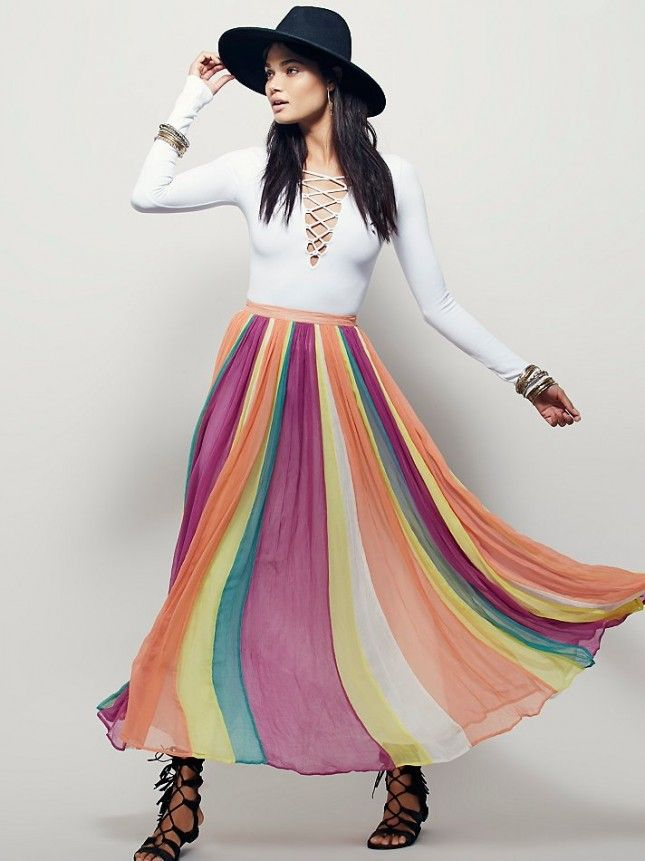 ff3fcc7770 Prep your festival style with this pretty + fun maxi skirt. | To ...
