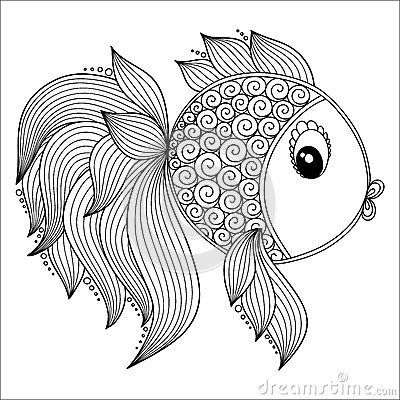 Fish Pattern Coloring Pages Stock Photos, Images