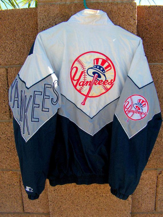 Vintage New York Yankees Starter Jacket Size By Retrosideshow Vintage New York New York Yankees Navy And White