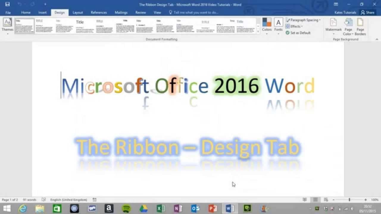 tutorial of the design