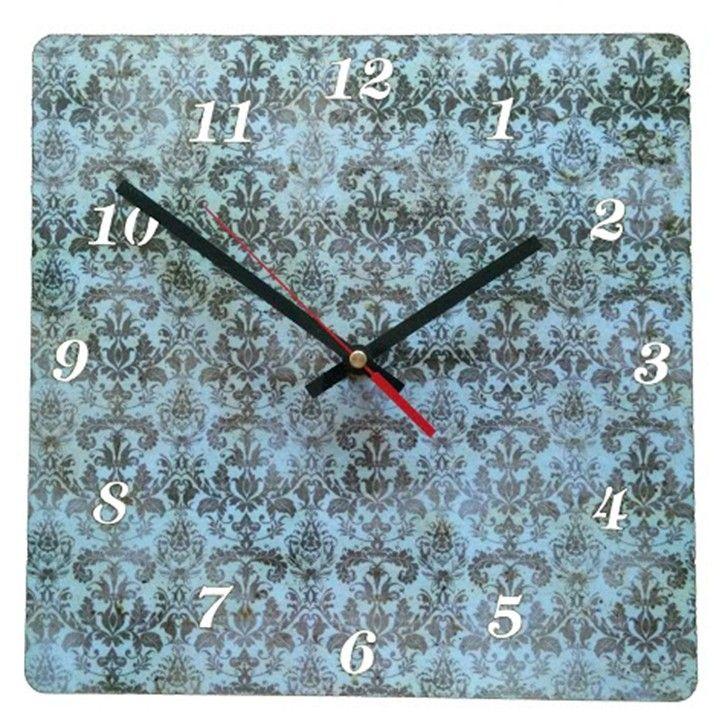 UBERCOOL DESIGNS | Damask Wood Clock - Homeware - 5rooms.com