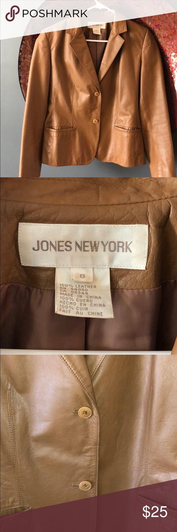 Jones New York Leather Jacket Jones New York Leather Jacket Jackets