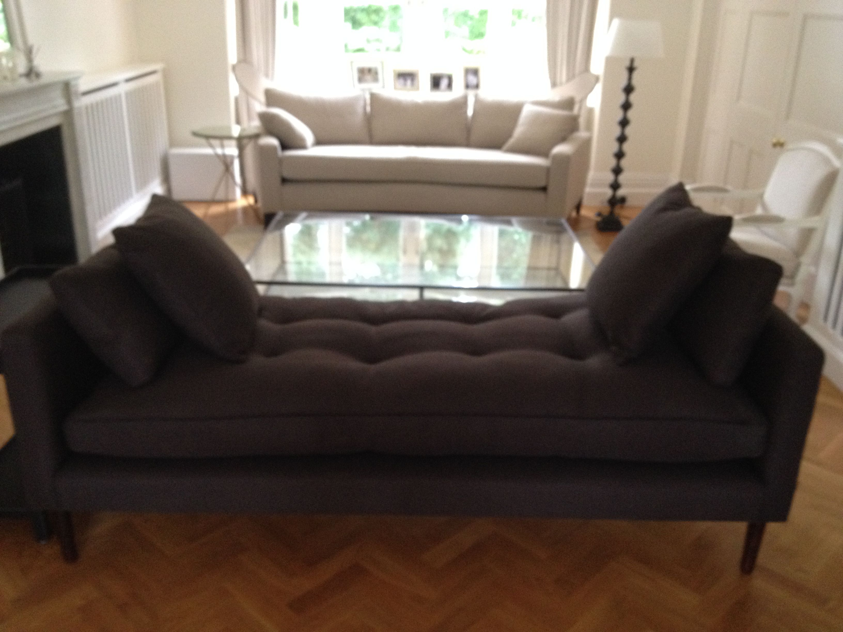 Romo Milani 7157 02 Grey Fabric Used On This Bespoke Chaise With Images Traditional Sofa Sofa Curved Sofa