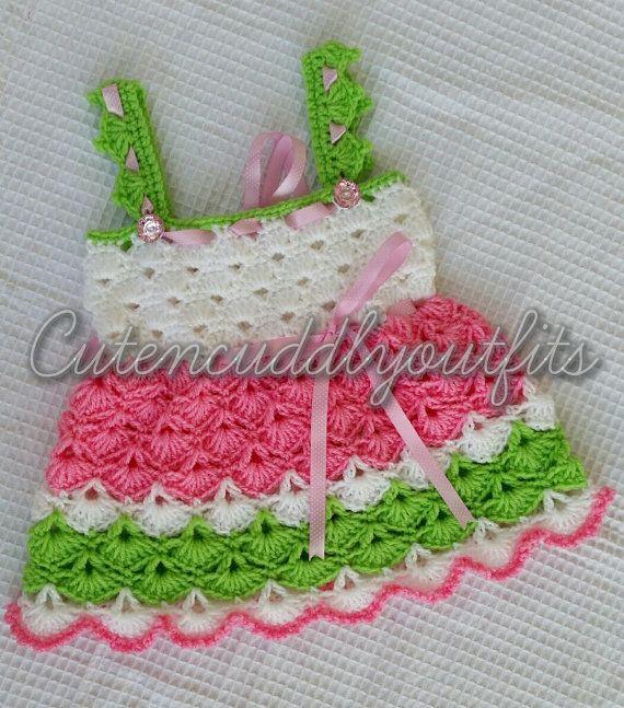 Baby Crochet Patterns Baby Dress Pattern Crochet shoes | vestidos de ...