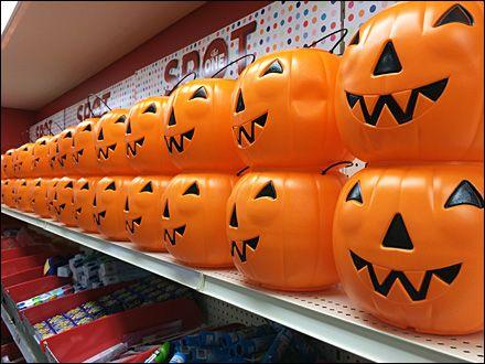 Target Builds a Halloween Wall of Pumpkins Pumpkin Pinterest