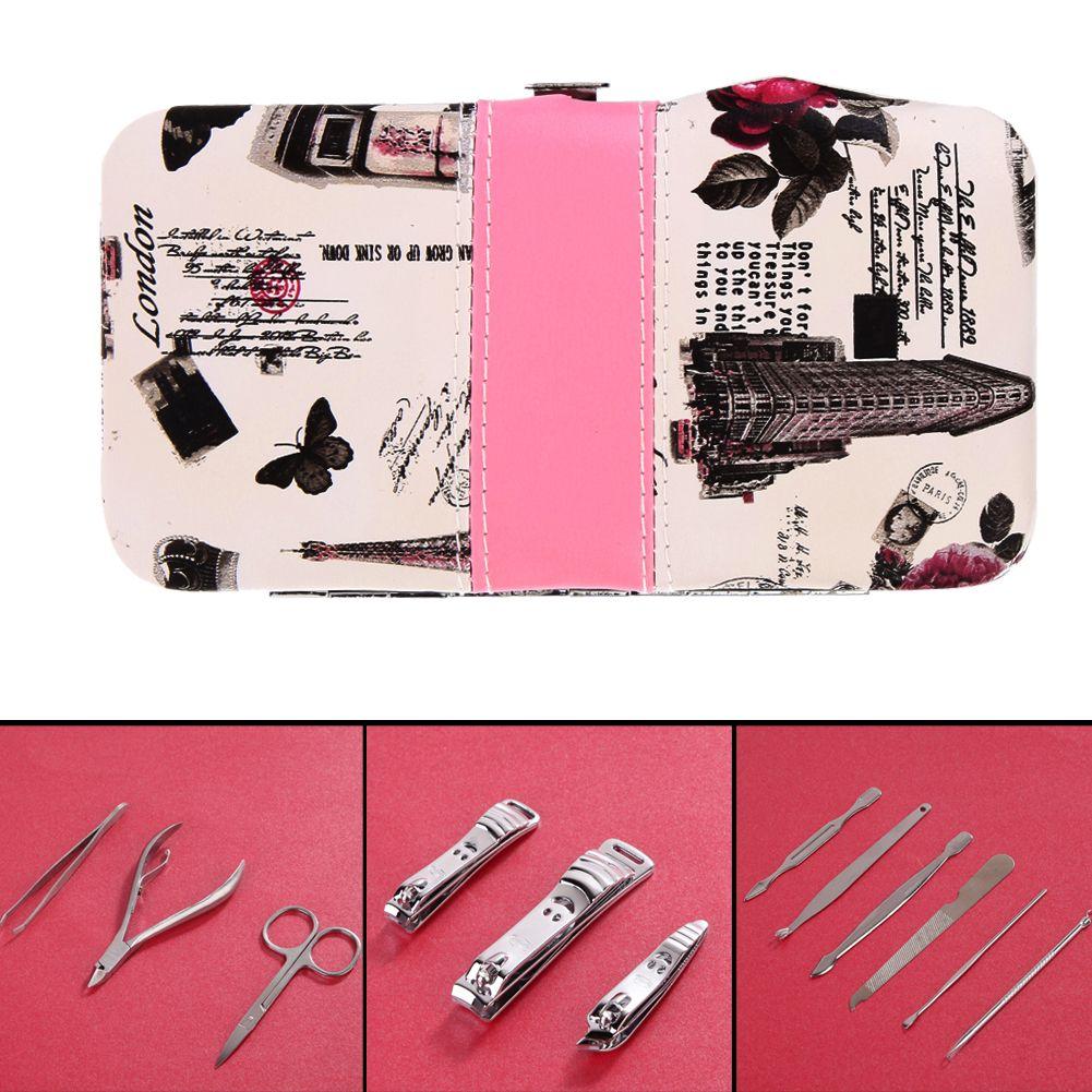 12Pcs/Set Professional Nail Cuticle Clippers Pedicure Manicure Set Nail Cuticle Clippers Cleaner Case Tool