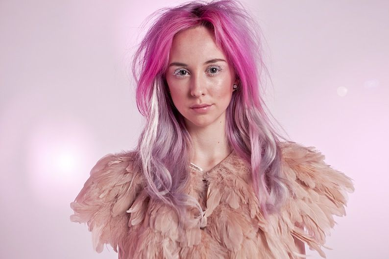 If I could do something crazy with my hair, it would be silver and pink.  But alas, I am just a dull girl...
